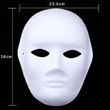 blank masks 300pcs white painted masks mask blank