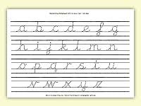 lined alphabet worksheets