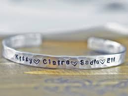 personalized bracelet custom cuff bracelet personalized bracelet mothers bracelet