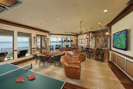 Custom Made Area Rugs Dark Wood Wainscoting Family Room Mediterranean With Card Table