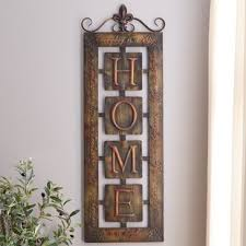 metal home decorating accents wall accents you ll love wayfair