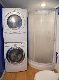 Space Saving Laundry Ideas White by Furniture Astonishing Stackable Washer And Dryer In White On A