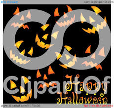 happy halloween clipart free clipart happy halloween greeting with jackolantern faces on black