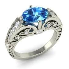 topaz engagement ring vintage blue topaz engagement rings diamondere