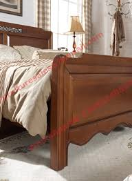 country style solid wood bed in wooden bedroom furniture sets
