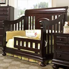 Crib Convertible To Toddler Bed Creations Summer S Evening Convertible Sleigh Crib In Espresso