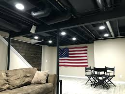 articles with exposed basement ceiling painted black tag