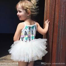 2017 little baby girls lace tutu dresses kids girls print ice
