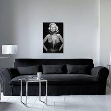 Marilyn Monroe Living Room by Iconic Marilyn Monroe By Radio Days Canvas Print