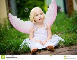 a little dressed in a angel costume stock image image 19731061