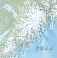 Alaska On A Map by Maps Kenai Fjords National Park U S National Park Service