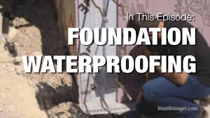 foundation waterproofing youtube