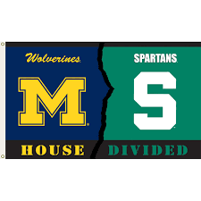 Michigans Flag Michigan Vs Michigan State 3ftx5ft House Divided Flag