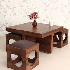 table stool sis home indigo coffee table with four stools fab