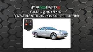 how to replace ford thunderbird key fob battery 2002 2003 2004