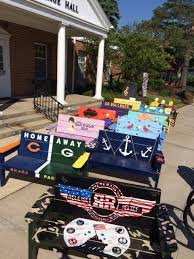 wauconda u0027s painted benches to be auctioned thursday