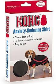 Kong Dog Beds Kong Anxiety Reducing Dog Shirt Black Medium Large Chewy Com