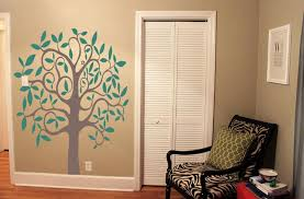 wall design ideas best peel and stick wall trees stick