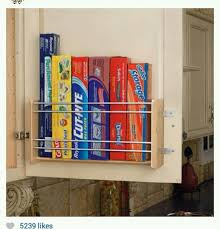 Foil Kitchen Cabinet Doors Neat Way To Store Foil Cling Film Etc Organizing Pinterest