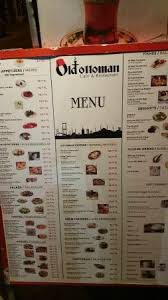 Ottoman Cafe Large Menu Prices Picture Of Ottoman Cafe Restaurant