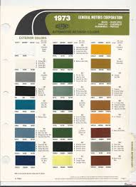 gm paint chart color reference