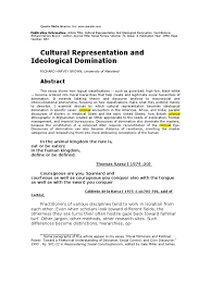 cultural representation and ideological domination slavery
