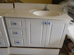 bathroom vanity with sink on right side bathroom vanities including one piece counter and sink orleans ottawa