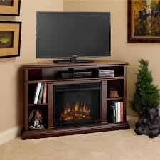 inspirations oak corner tv stand with fireplace corner fireplace