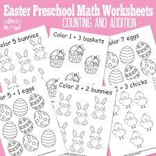 easter preschool math worksheets itsy bitsy fun