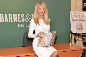 christie brinkley promotes new book in classic pumps photos