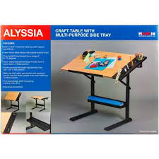 Drafting Craft Table Craft Table With Multi Purpose Side Tray Hobby Lobby 1093210