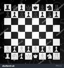 chess board figures game stock vector 93332920 shutterstock