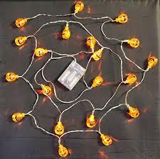 20 led 3d pumpkin halloween fairy lights battery operated led