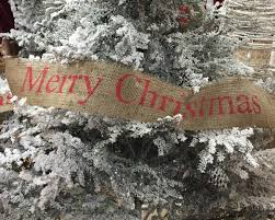 merry christmas burlap tree garland burlap christmas tree