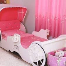 disney princess twin bed with wallpaper and white dresser and
