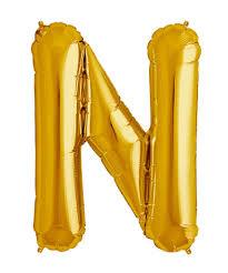 letter balloons mylar 34 gold balloon