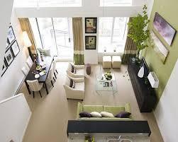 narrow living room design th ewindow blind blue white stripped