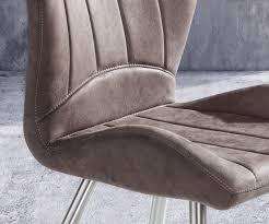 Esszimmerstuhl Vintage Esszimmerstuhl Firoza Taupe Vintage Gestell Edelstahl Möbel Stühle