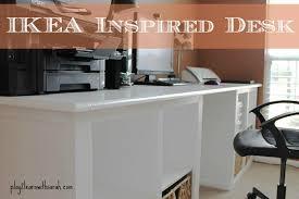 Diy Ikea Desk Diy Ikea Inspired Desk And Thyme