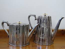 pair antique thomas otley and sons tea pot and coffee pot bm