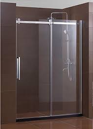 Cheap Shower Door Bathroom Hinged Frameless Glass Shower Door Corner Near Bathtub