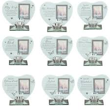 memorial tea light candle holder thoughts of you glass photo frame memorial tea light candle holder