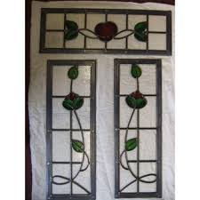 stained glass door windows sd027 victorian edwardian 5 panel stained glass exterior