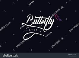 butterfly effect lettering vector stock vector 592612883