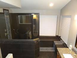 photos hgtv black shower with rain showerhead and river rock captivating bathroom remodeling with black and white color room ideas shower head towel rack in bath