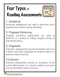 four types of reading assessments make take u0026 teach