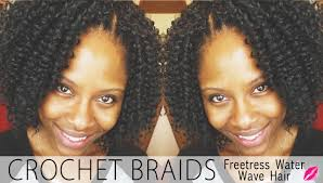 youtube crochet hairstyles on thinning hair crochet braids with freetress water wave hair glamazini youtube