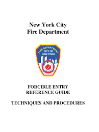 fdny forcible entry reference guide techniques and procedures