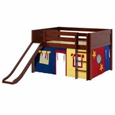 maxtrix full size low loft beds with slide maxtrix beds
