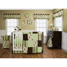 Jungle Themed Nursery Bedding Sets by Trend Lab Giggles 6 Piece Crib Bedding Set Green Brown Trend